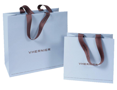 Bag_Paper_Light-Blue_Matte-Lamination_Brown-Grosgrain-Vanishing-Handle_Vhernier