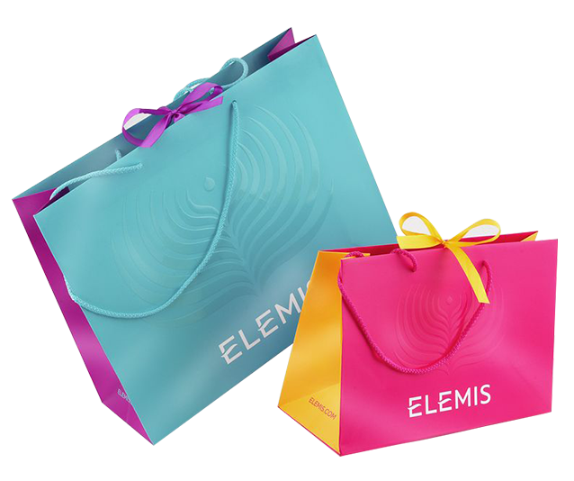 Elemis custom retail bags